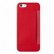 Чехол Ozaki O!coat 0,3 + Pocket Ultra Slim Case для iPhone 5/5S (красный)
